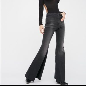 New Free People Just Float On Extreme Flare Jeans